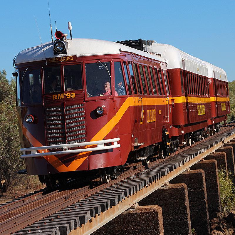 GULFLANDER TRAIN, COBBOLD GORGE