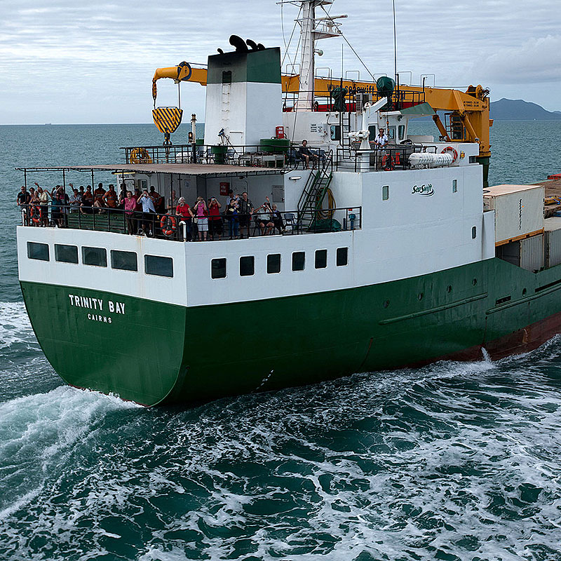 DEPART CAIRNS MV TRINITY BAY.